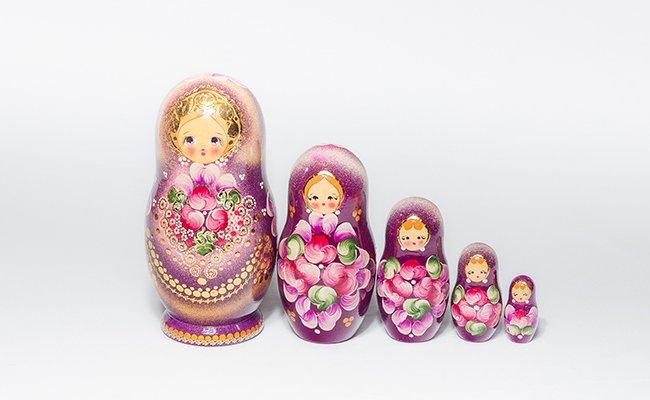 Flores Gold - 5 Bonecas
