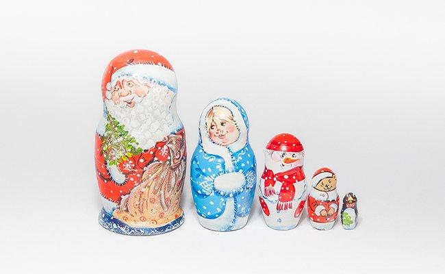 Papai Noel - 5 Bonecas
