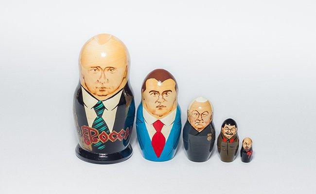 Presidentes Russos - 5 Bonecas