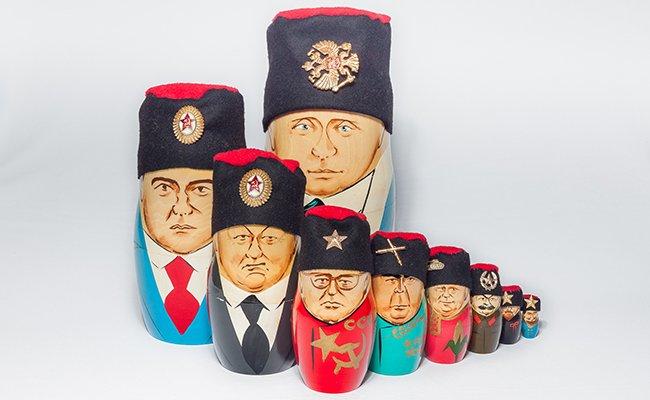 Presidentes Russos - 10 Bonecas