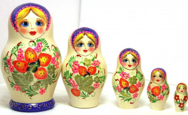 Morango Clara 5 Bonecas