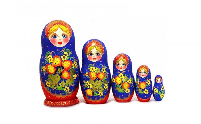 Morango Azul 5 Bonecas