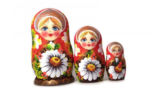Flores Romashka - 3 Bonecas