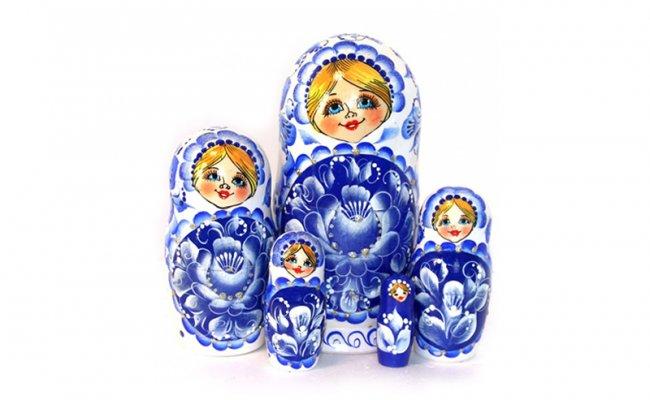 Flores Azul 5 Bonecas