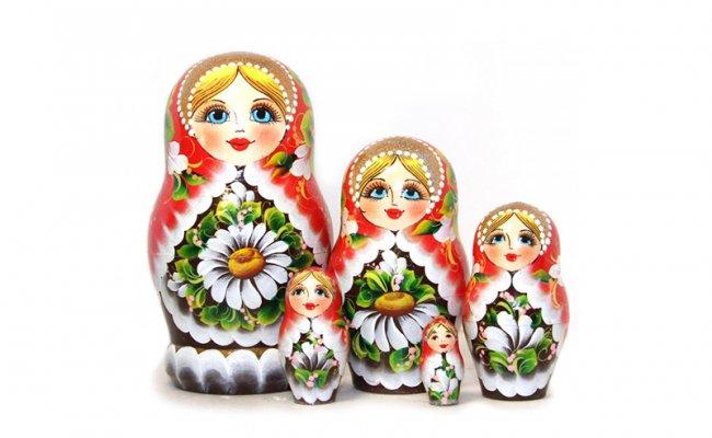 Flores Romashka - 5 Bonecas