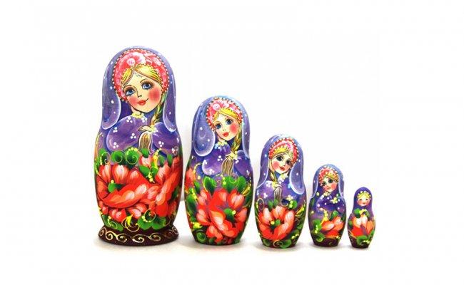 Flores Roxa - 5 Bonecas