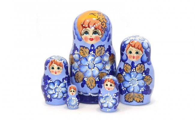 Vip Natacha Azul - 5 Bonecas