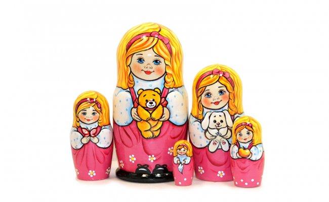 Vip Polina Com Urso - 5 Bonecas