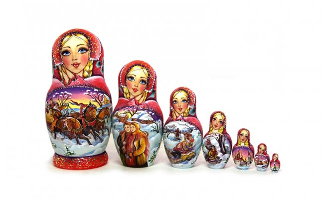 Boneca Vip Troica - 7 bonecas