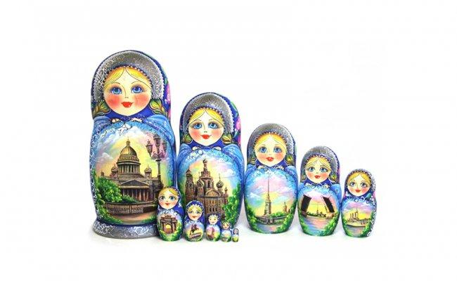 Vip Sankt Peterburg Azul-10 bonecas