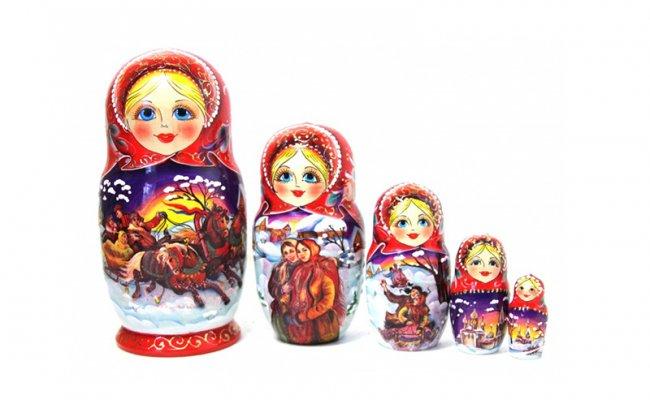 Troika Vermelha - 5 Bonecas