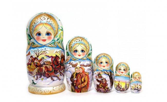 Troika Branca - 5 Bonecas