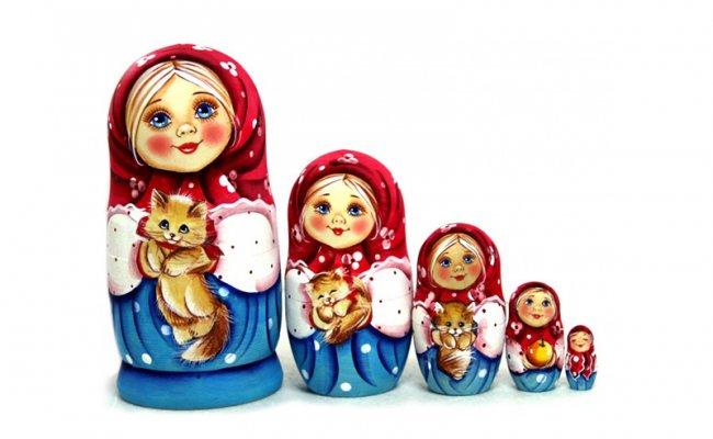 Uilia com Gatinho - 5 Bonecas