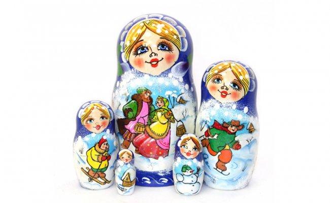 Inverno Azul - 5 Bonecas