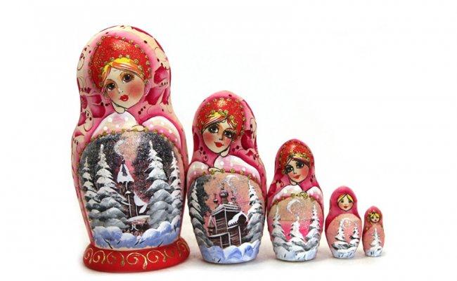 Inverno Rosa - 5 Bonecas
