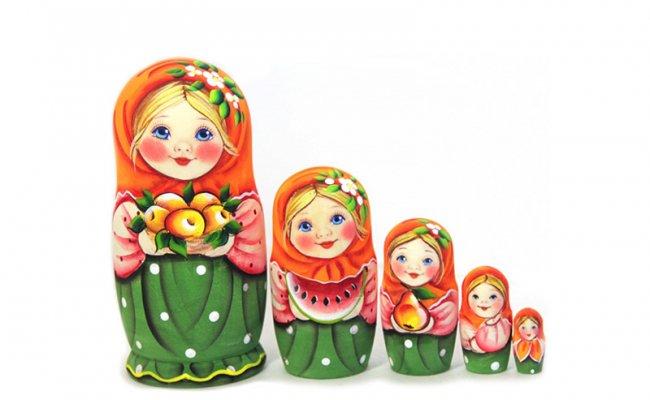 Macha com Maçã - 5 Bonecas